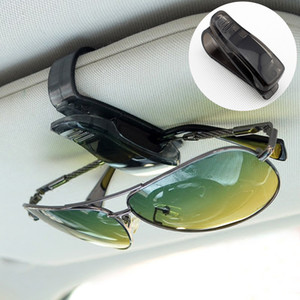 Universal Black Style Motor Automobilzubehör Sonnenblende Gläser Sonnenbrille Ticket Kartenhalter Clip Teile
