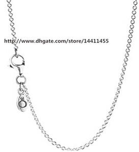 Alta qualidade 925 corrente de prata esterlina com colares de fecho serve para encantos estilo europeu Pandora e pingentes de miçangas