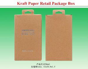 Estampado universal de papel Kraft Caja del paquete para iPhone 4 5S 6 Plus 5.5 pulgadas Samsung S5 S4 Note 3 4 HTC Tempered Glass Protector de pantalla