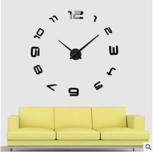 홈 장식! 큰 거울 벽 시계 현대적인 디자인, 큰 장식 디자이너 벽 clocks.watch 벽 스티커, 독특한 선물