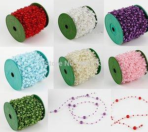 Al por mayor-60M 1 Rollo de 8 mm perlas de bolas Garland boda de la cadena Decoración Centro de Vela Elaboración favor de bricolaje