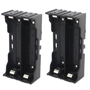 2 x 3.7V 18650 Batterie Supporto per batteria a 4 pin Connessione parallela alla cassa 18650 battery holder per 18650 battery pack di colore nero