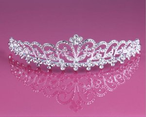 rhinestone tiara Wedding Fascinadores del pelo sombreros Rhinestone tiara pendiente Barato Al Por Mayor Niñas Noche Accesorios de Baile HT13