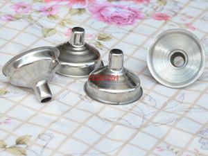 Livraison gratuite en gros entonnoir en acier inoxydable hanche fiole entonnoir en acier inoxydable entonnoir mini entonnoir, 20pcs / lot