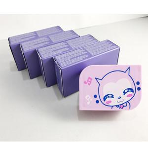 Envío libre de 13 colores caja de lente de contacto fresca 3 tono de 100 piezas = 50 pares de paquete cuadro de color de lentes de contacto