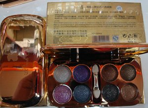 Al por mayor-Alta calidad 3D Eyeshadow Glitter 8 Colos paleta de sombras de ojos, maquillaje de ojos profesional Smoky Eye Smoking maquillaje envío gratis