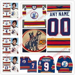 Personalizado Kansas City Scouts 1974-1976 Vintage Hockey Hombre Niños Juventud Blanco Azul Real Cosido # 17 Nolet Tu Propio Cualquier Nombre Nombre Jersey S-4XL