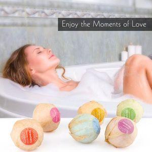 Body Care Organic Bath Bombs Burbuja Sales de baño Bola Aceite esencial Hecho a mano SPA Body Relax Baño Lavanda Sabor