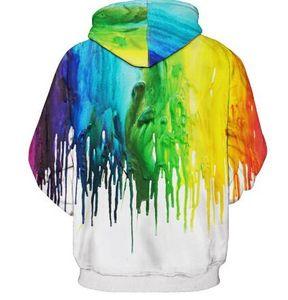 Splash paint Hoodies Men Women Hooded Hoodies Leisure fashion With Cap 3d Sweatshirt Print Paint Hoody Tracksuits Pullover Tops