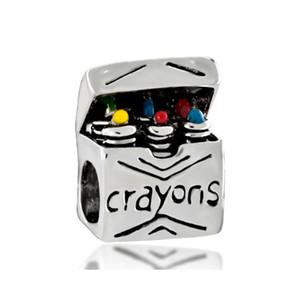Moda Takı Avrupa Tarzı Boncuk Spacer Çocuk Boya Kalemi Bilezikler için Metal Boncuk Avrupa Charms Küpe Kolye