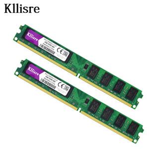 Kllisre 4 GB (2 pcs X 2 GB) DDR2 2 GB Ram 800 Mhz PC2-6400U 240Pin 1.8 V CL6 Desktop memória