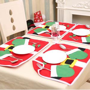 Decorazioni di natale di CALMASO di Chirstmas per la cucina domestica Tabella tovaglietta tovaglietta partito tovaglietta sveglia del nuovo anno tovaglia stuoia