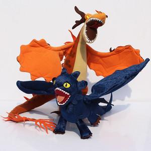 40cm desdentado Noche felpa de la furia Cómo entrenar a tu dragón felpa muñeca de juguete Posable Alas de felpa muñeca de regalo para los niños