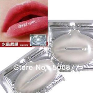 Bellezza Donna 12 pz / lotto Pelle di Cristallo Collagene Labbro Maschera Cura Pad Essenza di Umidità Anti Invecchiamento Rughe Patch Gel Pad