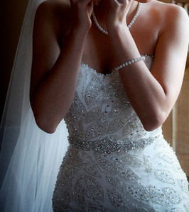 Neue Glitzerkristalle Hochzeit Gürtel Strass Bridal Schärpen Günstige Perlen Kristalle Hochzeit Sash Ribbon Gürtel Bridal Accessories