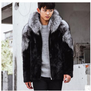 Wholesale- Casaco Masculino Mens Winter Autumn Imitation Fur Coats Hooded Casual Man-Made Overcoats For Male Faux Fur Outwear Cj54