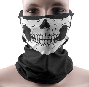 Halloween Cosplay Bicycle Ski Skull mask Half Face Mask Ghost Scarf Neck Warmer skull Party Masks TY917