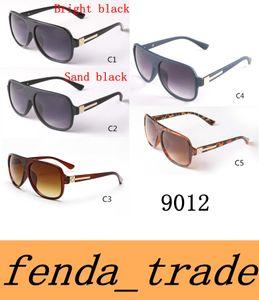Новый 2017 бренд дизайнер Мужчины Женщины ретро плоским верхом солнцезащитные очки старинные ацетат затененные линзы тонкие тени очки 9012 высокое качество объектив MOQ=10