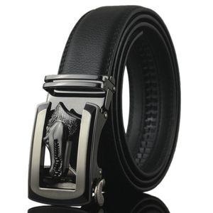 Yeni Yüksek lüks erkek kot kemer Erkek timsah otomatik toka siyah kuşak Tasarımcı Kayışlar tasarımcılar