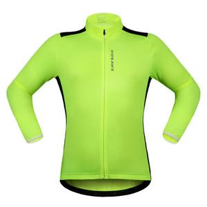 WOSAWE 새로운 긴 소매 사이클링 유니폼 리어 리플렉션 탭 MTB 자전거 자전거 윈드 유니폼 보호 자켓 사이클링 Clothings