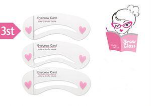 All'ingrosso-3 stili all'ingrosso strumenti per lo styling trucco sopracciglio stencil maquillaje sopracciglio t eye brow shaping kit stencil per sopracciglia kit fai da te
