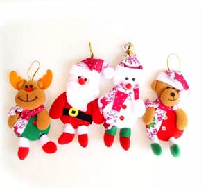Toptan Noel Baba Kardan Adam Ayı Elk 4 Stilleri Özel Süper Sevimli Noel Dekorasyon Ağacı Süslemeleri Festivali Oyuncak