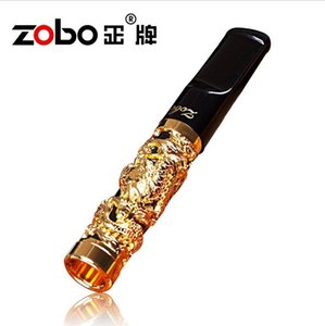 All'ingrosso-Nuovo arrivel Zobo Filter Sigaretta Holder lavabile Genuine Gold Cigarette Rod ZB-262 regalo di alta qualità
