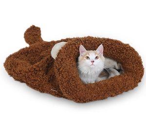 Soft cat sleeping bag cat bed