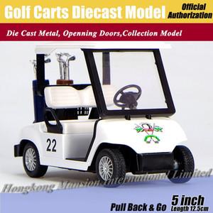 1:36 Ölçekli Diecast Alaşım Metal Araba Modeli Golf Arabaları Koleksiyonu Için Model Geri Çekin Oyuncaklar Araba-Beyaz