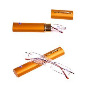 High Quality Ultra Slim & Trim Reading Glasses Portable Presbyopic Glasses Pen Case Reading Glasses +1.0 +1.5 +2.0 +2.5 +3.0 +3.5 +4.0