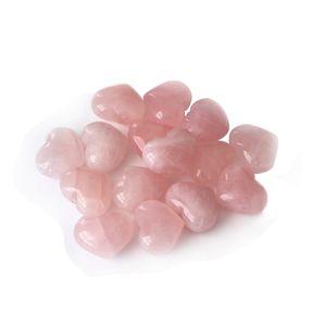 En forma de corazón rosa grano de piedra natural de cuarzo cristal perlas sueltas DIY joyería para el regalo del amante de ojos de tigre regalo de Navidad haciendo al por mayor