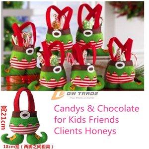 Elf y Santa Candy Bags Christmas Gift Bag Xmas Bag for Children Decoración de Navidad estilo de pantalones con pie grande J103001 #