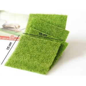 Yapay Sahte Moss Dekoratif Çim Mikro Peyzaj Dekorasyon DIY Mini Peri Bahçe Simülasyon Bitkiler Çim Yeşil Çim 15x15 cm Küçük Boy