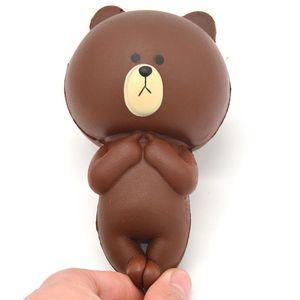 12 cm Rilakkuma Orso Jumbo Kawaii Carino Squishy Cartone Animato lento aumento pane morbido torta panino dolce fascino profumato giocattolo per bambini regalo