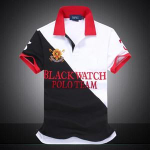 US SIZE designer polo shirts hommes BLACK WATCH POLO TEAM USA Maillage À Manches Courtes POLO CUSTOM FIT EU UK taille dropshipping