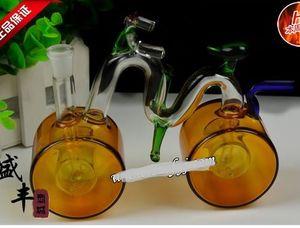 Frete grátis atacado Hookah - Hookah vidro [bicicleta grande, cor de entrega aleatória