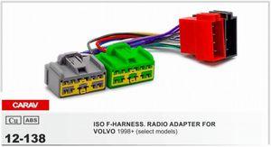 CARAV 12-138 ISO F-HARNESS. VOLVO 1998-2010 용 라디 오 어댑터 (일부 모델) 배선 하네스 커넥터 리드 룸 케이블 플러그
