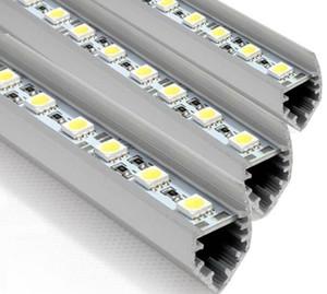 10 adet SMD5050 led bar ışıkları DC 12 V 36 LEDs / 0.5 M 50 cm LED Sert Şerit Bar Araba Işık V-şekilli ile Alüminyum alaşım kabuk
