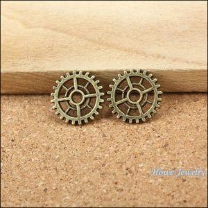 Vintage steampunk Gear alliage pendentif bronze antique montre en métal Accessoires bricolage bijoux accessoires Trouver 200 pcs / lot 14 * 14mm