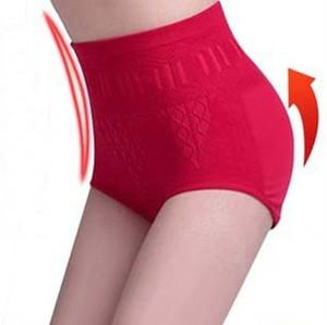 Al por mayor-2015 Hot Cotton Women Underwear cintura alta pantalones cortos sin costura bragas para mujeres