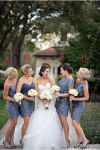 Custom Made primavera brevi abiti da damigella d'onore guaina di pizzo quattro stili formale da sposa abiti da sera di promenade Tulle Party Homecoming Pageant Gown