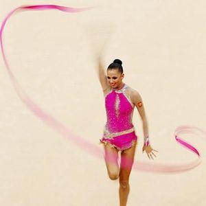 2.020 novas ações em 4M dança da fita ginástica rítmica Art Gymnastic Ballet Streamer Twirling Rod frete grátis