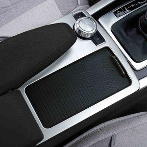 메르세데스 벤츠 C 클래스 W204에 대한 자동차 내부 센터 콘솔의 기어 시프트 상자 장식 조각 물 컵 홀더 커버 트림 스트립 스티커 2008-14 액세서리