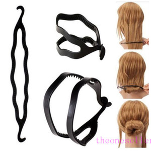 Magic Hair Pony Tail Maker Plastic Hair Styling Bun Maker Shaper Braid Holder Clip Twist Tool Hair Twist Styling Clip 3000pcs
