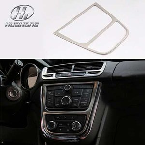 Car middle control Fascias cover decoration Interior sticker stainless steel material products for Opel Mokka 2013-2015