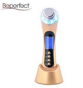 2018 Shock Wave Therapy Pour Équipement Face Lift avec 3Mhz ultrasons Galvanic LED lumière et Bio Vibration pour utilisation à domicile