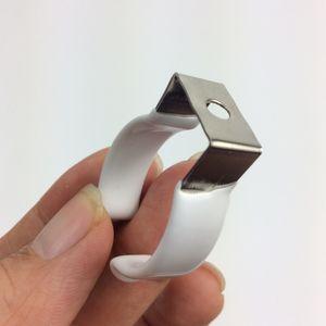 En forme de U en acier inoxydable revêtu de plastique T8 T10 T12 Support de lampe Force de serrage forte Clip de montage pour installation de tube