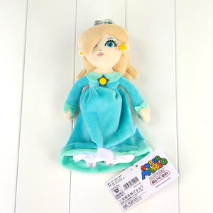 Wholesale- 23cm Super Mario Bros Plush Toy Princess Rosalina in Blue Dress Soft Stuffed Doll for Girls