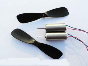 2 قطع 7 * 16 ملليمتر عالية المغناطيسي coreless موتور 55000 دورة في الدقيقة + مراوح airscrew ل طائرات التحكم عن / quadcopters الذيل المحرك