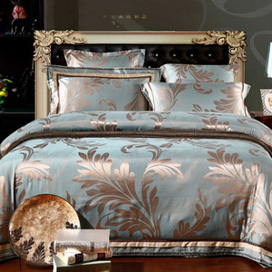 MFH Mordern Ensembles de literie de luxe designer linge de lit dentelle housse de couette draps en coton draps king size qualité de noël 4pcs.